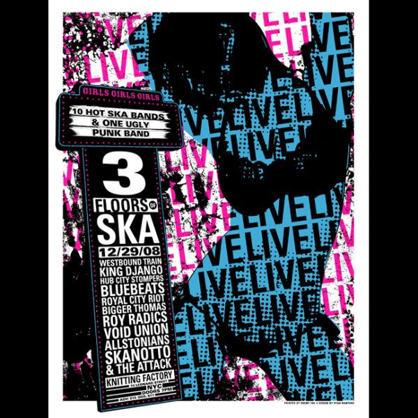 3 Floors Of Ska screen printed poster-0