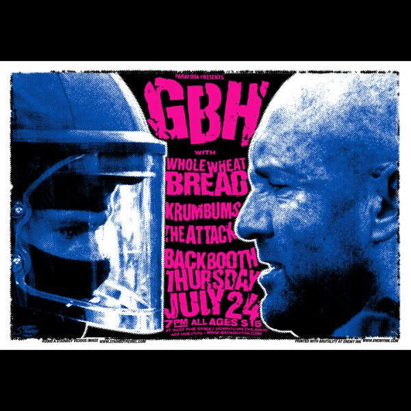 GBH Screen Printed Poster featuring The Attack-0