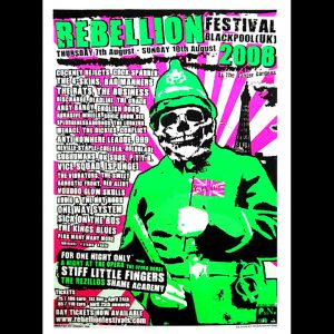Rebellion Fest 2008 Screen Printed Poster-0