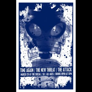 Time Again Screen Printed Poster featuring The Attack-0