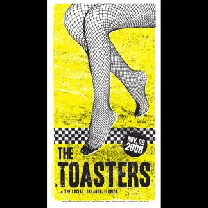 The Toasters Screen Printed Poster-0