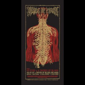 Cradle of Filth screen printed poster-0