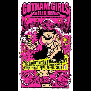 Gotham Girls screen printed poster-0