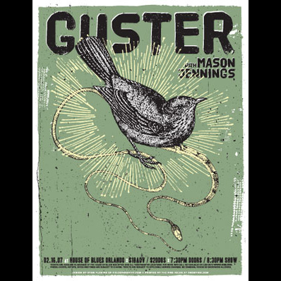 Guster screen printed poster-0