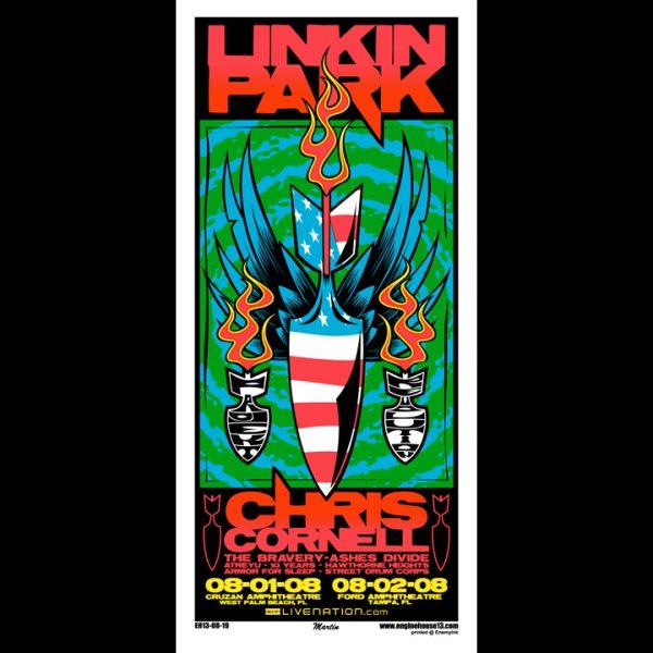 Linkin Park screen printed poster-0