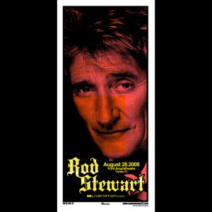 Rod Stewart screen printed poster-0