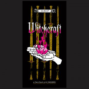 Witchcraft screen printed poster-0