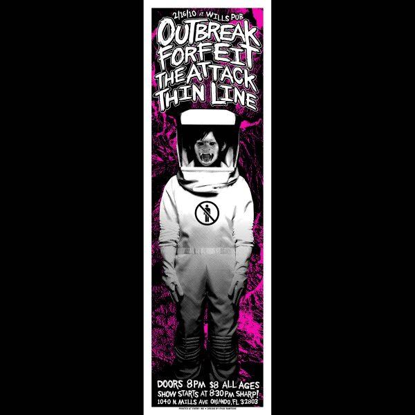 Outbreak Screen Printed Poster -0
