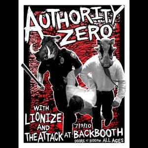 Authority Zero Screen Printed poster-0