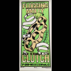 Flogging Molly featuring Clutch Screen Printed Poster-0