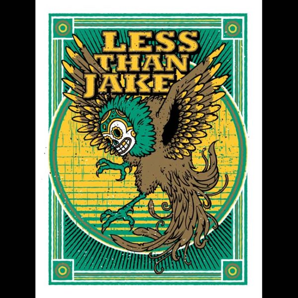 Less Than Jake 20th Anniversary Poster Designed by Horsebites-0