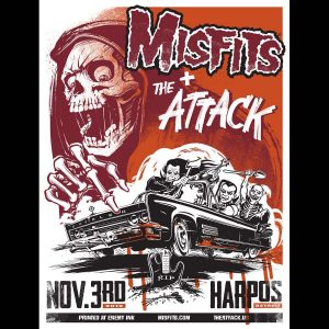 Misfits Detroit 2012 Screen Printed Poster-0