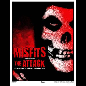 Misfits Bloomington 2012 Screen Printed Poster-0