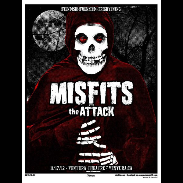 Misfits Ventura 2012 Screen Printed Poster-0