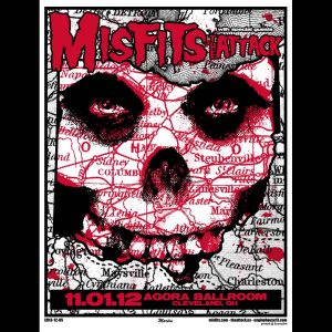 Misfits Cleveland 2012 Screen Printed Poster-0