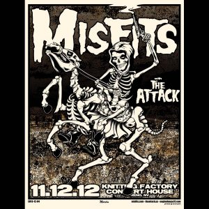 Misfits Reno 2012 Screen Printed Poster-0