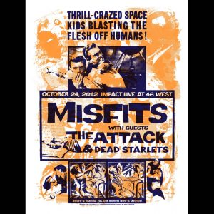 Misfits Barrie Ontario 2012 Screen Printed Poster-0