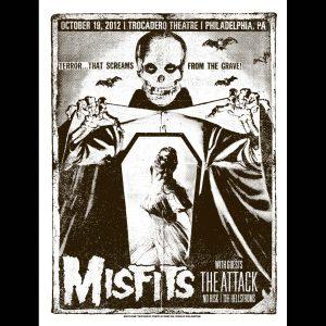 Misfits Philadelphia 2012 Screen Printed Poster-0