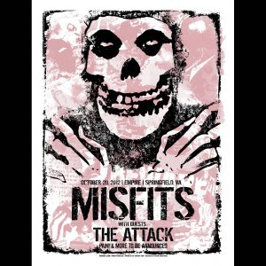 Misfits Springfield VA 2012 Screen Printed Poster-0