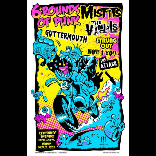 Misfits 6 Rounds Of Punk AZ Screen Printed Poster-0