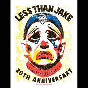 Less Than Jake 20th Anniversary Poster by Zak Kaplan-0