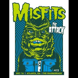Misfits Atlanta 2013 screen printed poster-0