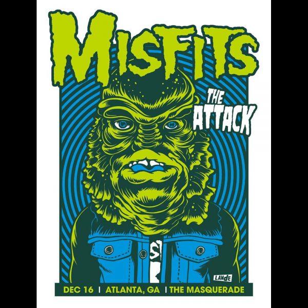 Misfits Atlanta 2013 screen printed poster-0