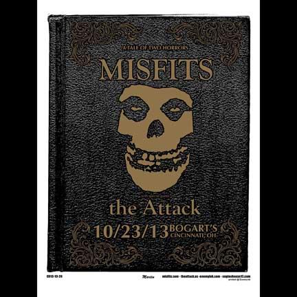 Misfits Cincinnati 2013 screen printed poster-0