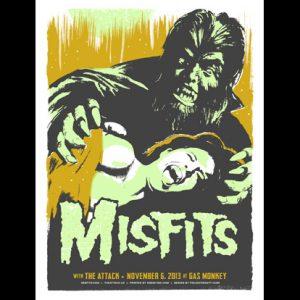 Misfits Dallas, TX 2013 screen printed poster-0