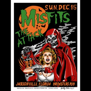 Misfits Jacksonville, FL 2013 screen printed poster-0