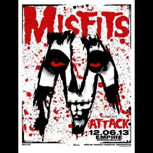 Misfits Springfield, VA 2013 screen printed poster-0