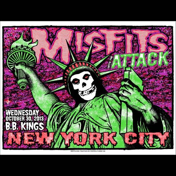 Misfits New York City 2013 screen printed poster-0