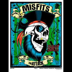 Misfits Norfolk, VA 2013 screen printed poster-0
