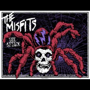 Misfits Oakland 2013 screen printed poster-0