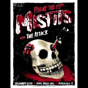 Misfits Pensacola Friday the 13th 2013 screen printed poster-0