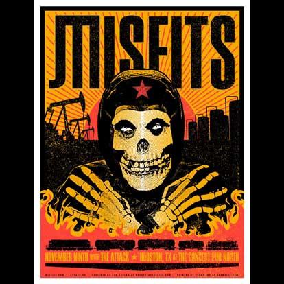 Misfits Houston 2013 screen printed poster-0