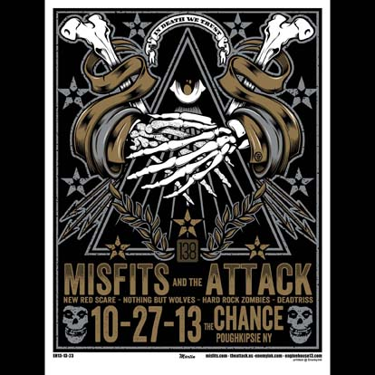 Misfits Poughkipsie, NY 2013 screen printed poster-0