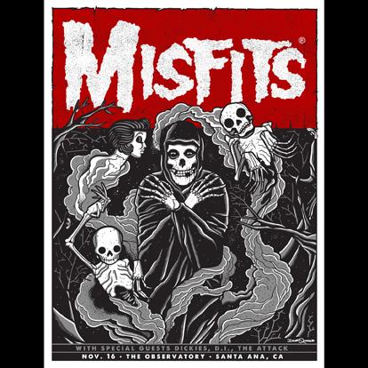 Misfits Orange County(Santa Ana), CA 2013 screen printed poster-0