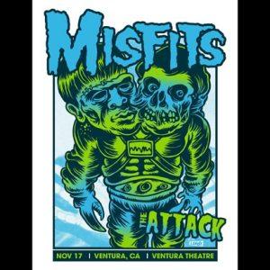 Misfits Ventura, CA 2013 screen printed poster-0