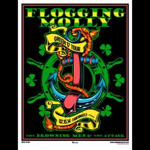Flogging Molly Atlanta 2014 screen printed poster-0
