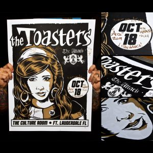 Toasters Screen Printed Poster, Ft. Lauderdale, FL 10/18/14-0