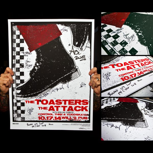 Toasters Screen Printed Poster Orlando,Fl 10/17/14-0