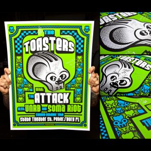 Toasters Screen Printed Poster ST. Petersburg, FL 10/19/14-0